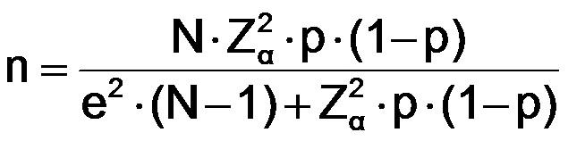 Fórmula cálculo del tamaño de muestra para estimar una proporción